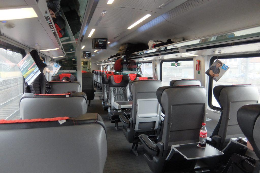 ウィーンからプラハ鉄道1等席