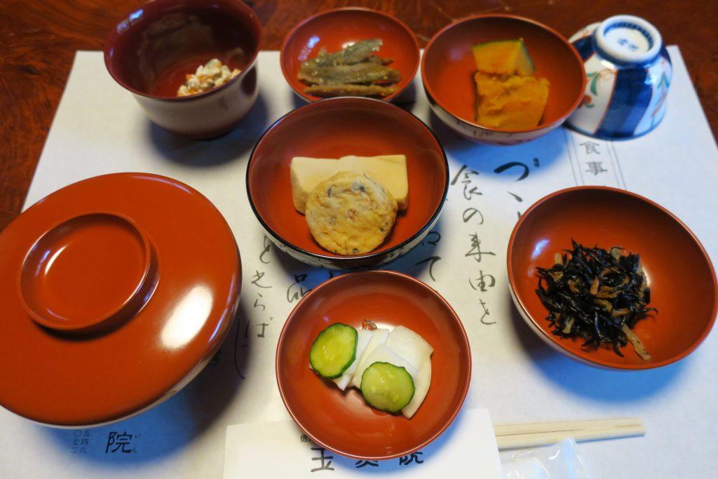 玉照院の朝食