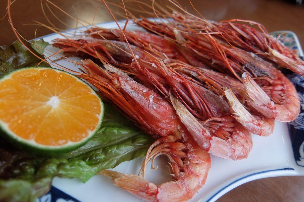 魚清の赤エビ塩焼
